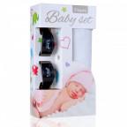 Baby set - bambusová osuška white / bílá + kočárkový kolíček black / černá