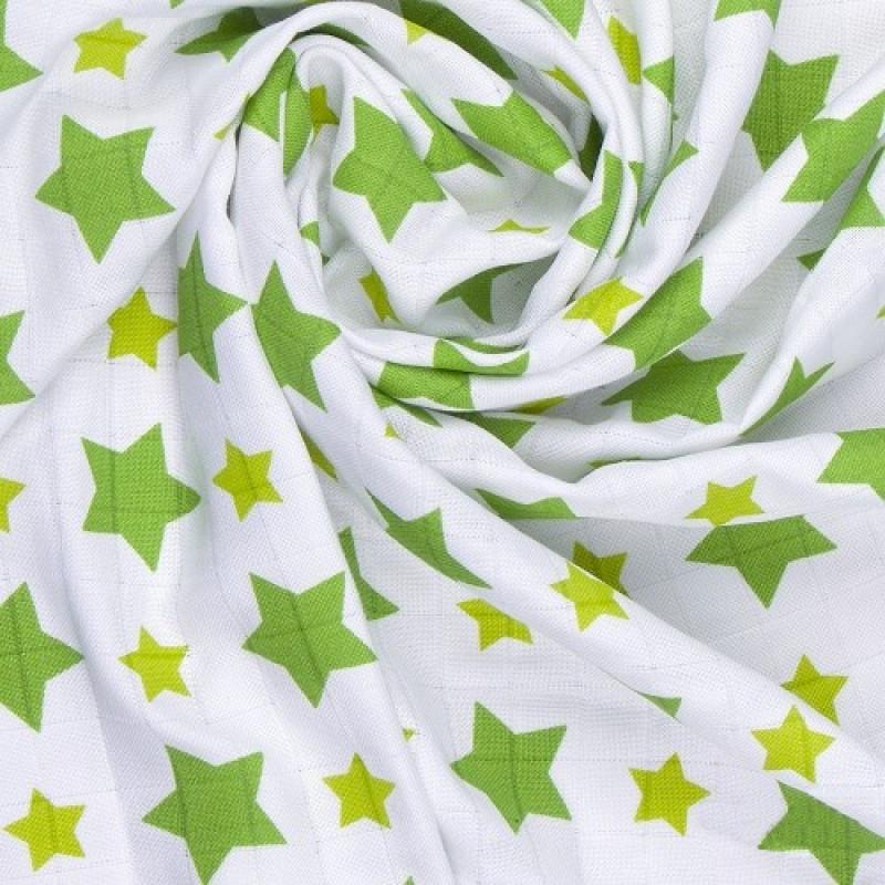 BIO Bambusová osuška, green stars / zelené hvězdičky