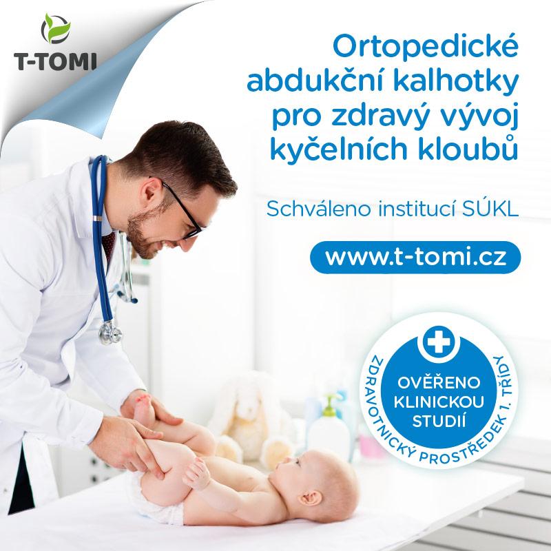 Ortopedické abdukční kalhotky - suchý zip, dinos (3-6kg)