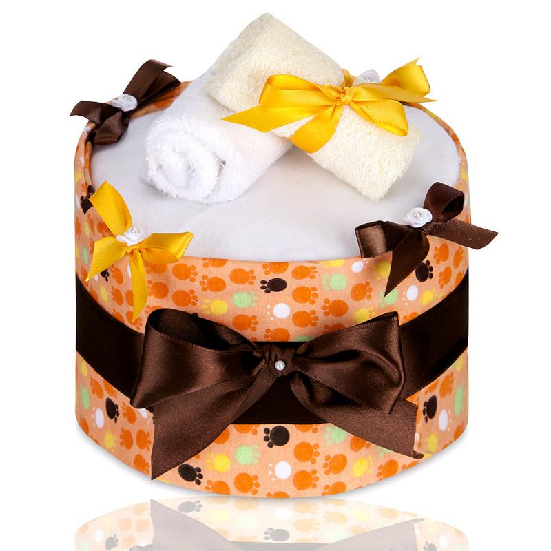 Plenkový dort ECO - LUX, large orange paws / velké oranžové tlapky