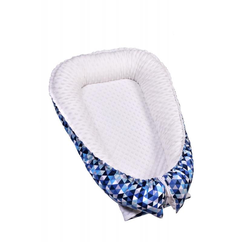 Hnízdečko pro miminko MINKY, blue triangles
