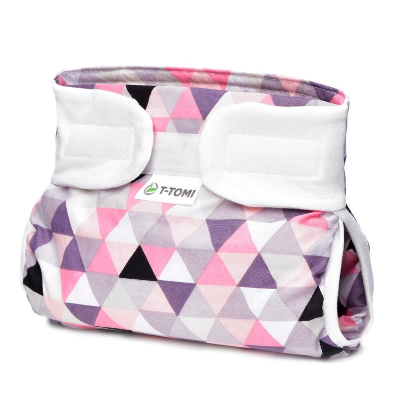 Ortopedické abdukční kalhotky - suchý zip, pink triangles (3-6kg)