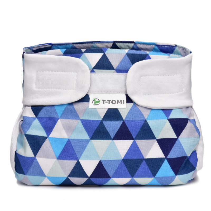 Ortopedické abdukční kalhotky - suchý zip, blue triangles (5-9kg)
