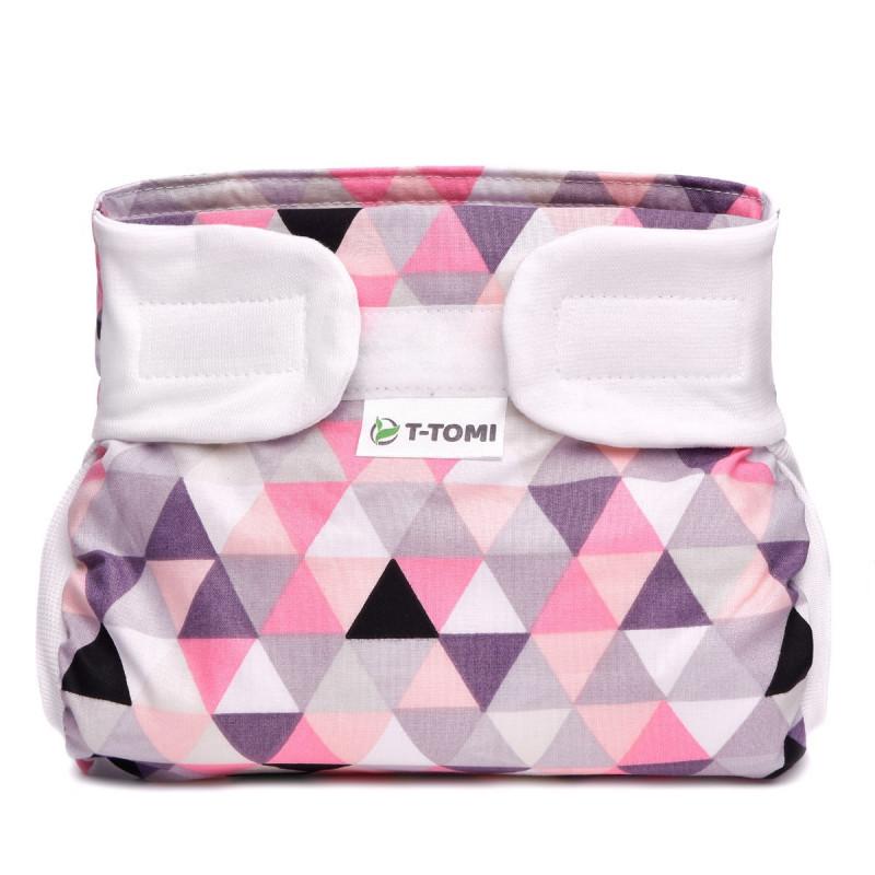 Ortopedické abdukční kalhotky - suchý zip, pink triangles (5-9kg)