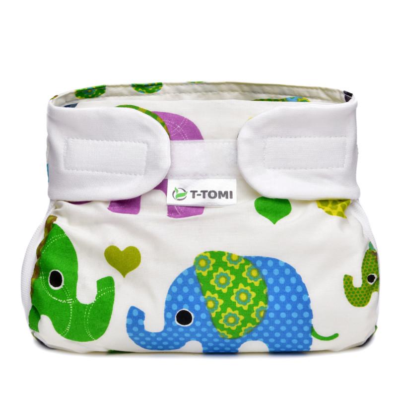Ortopedické abdukční kalhotky - suchý zip, green elephants (5-9kg)