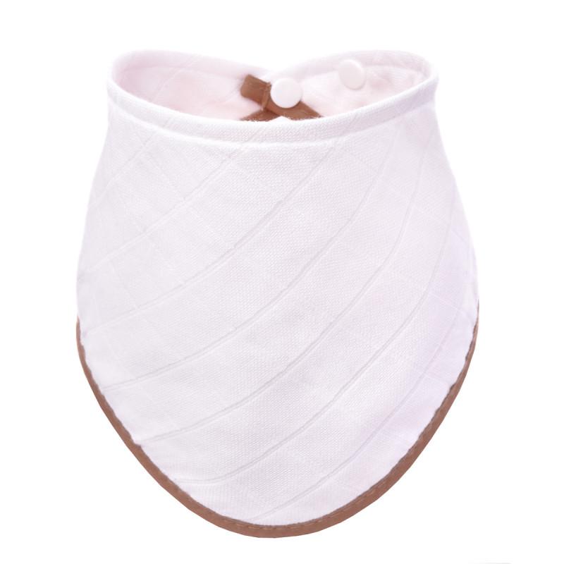 BIO Bambusový slintáček, white with beige edging / bílý s béžovým okrajem