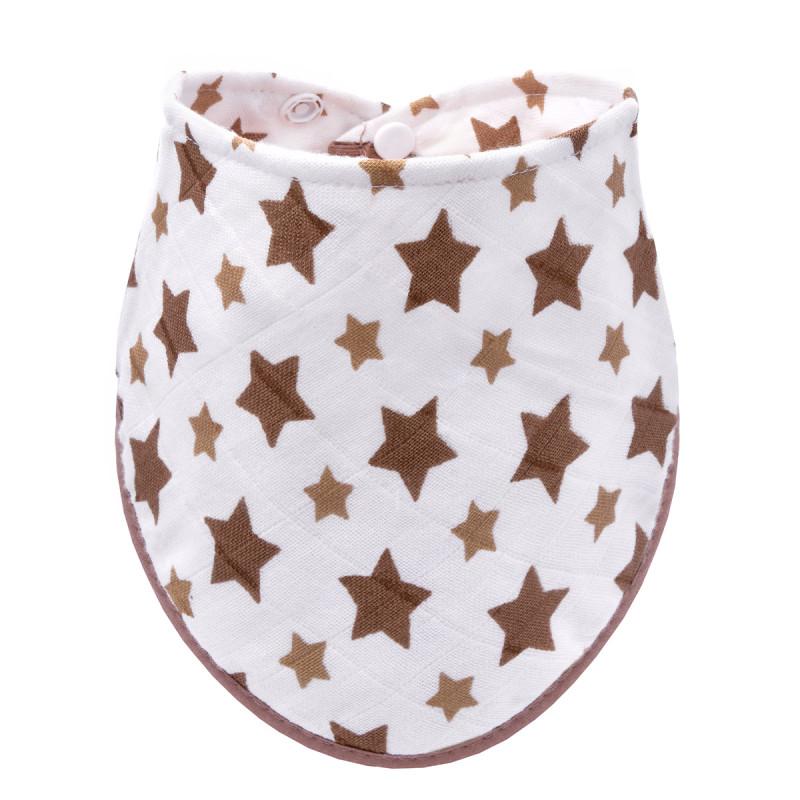 BIO Bambusový slintáček, beige stars / béžové hvězdičky