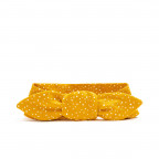 Zavazovací čelenka - dětská, mustard dots