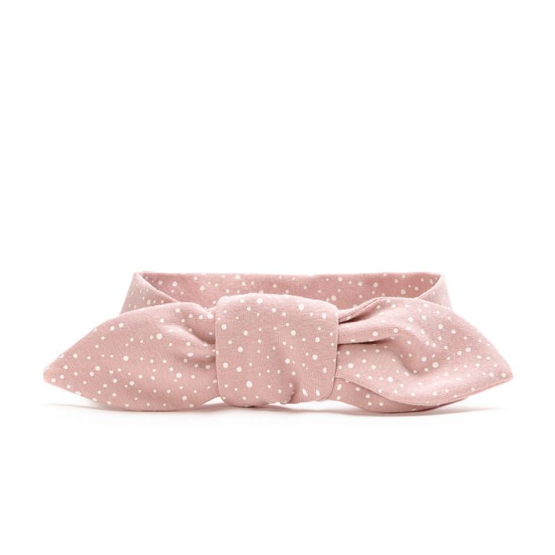 Zavazovací čelenka - dětská, pink dots