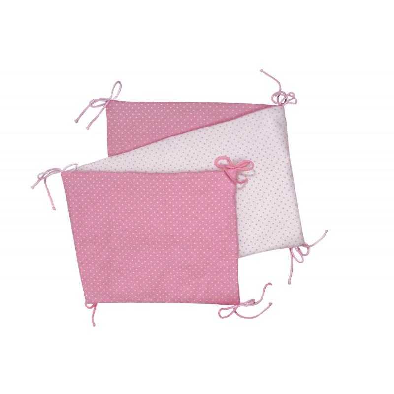 Skládaný mantinel, pink / little dots