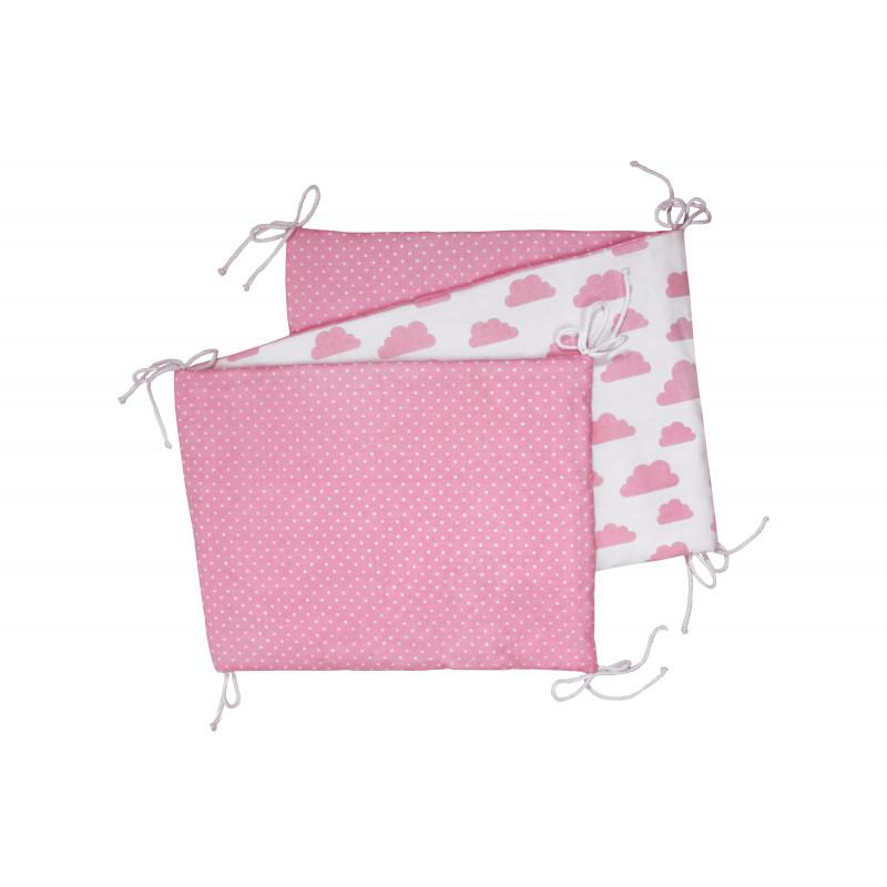 Skládaný mantinel, white / pink clouds
