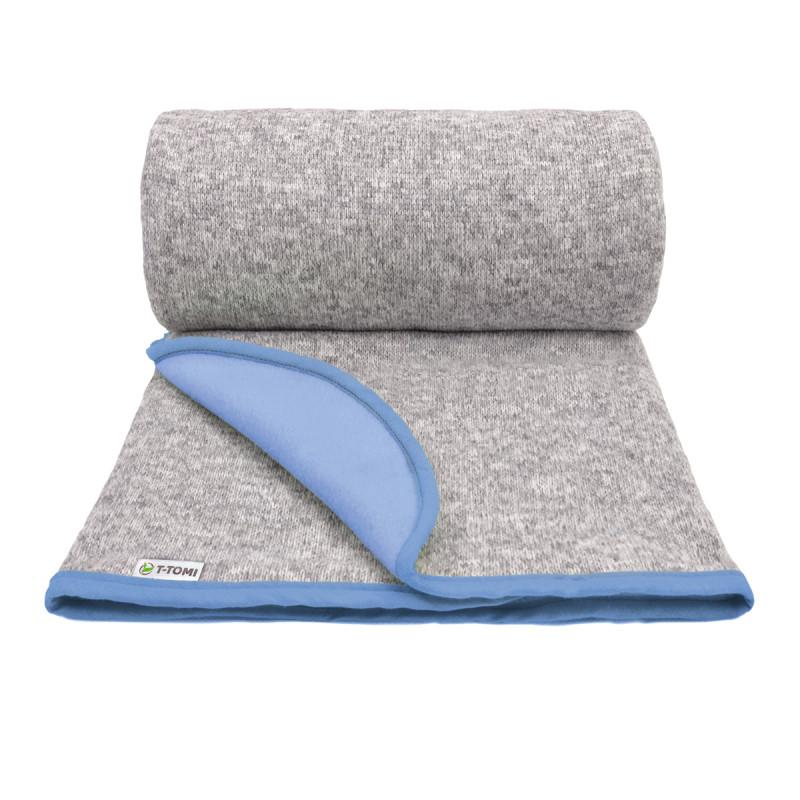 Dětská pletená deka autumn, blue / modrá