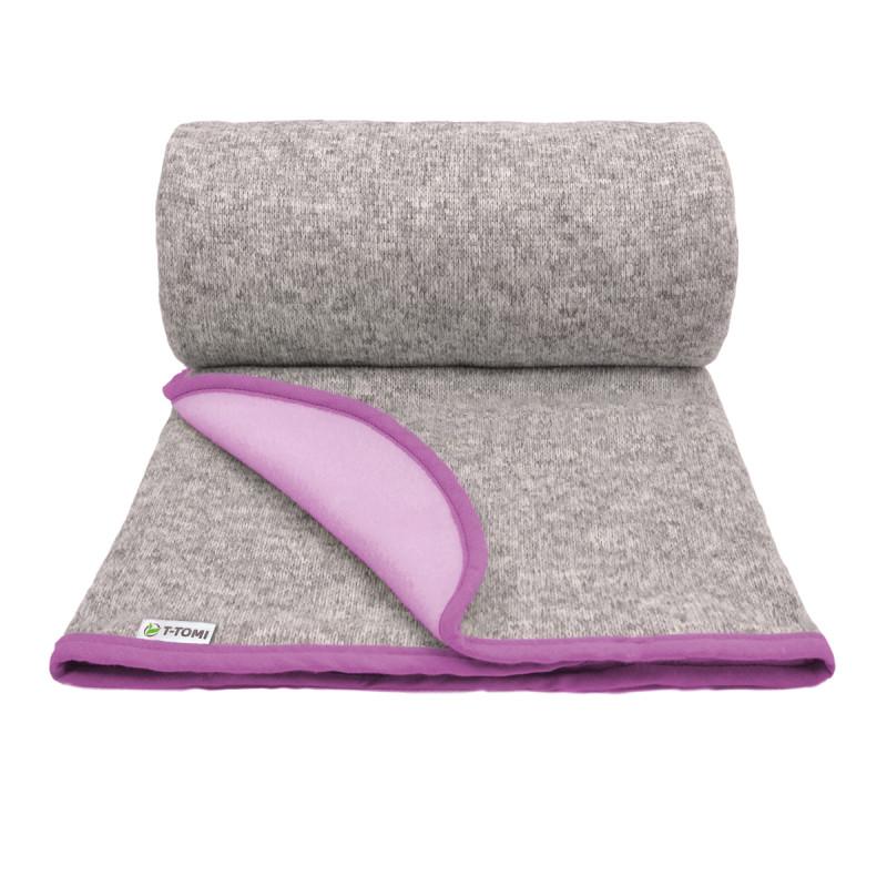 Dětská pletená deka autumn, pink / růžová