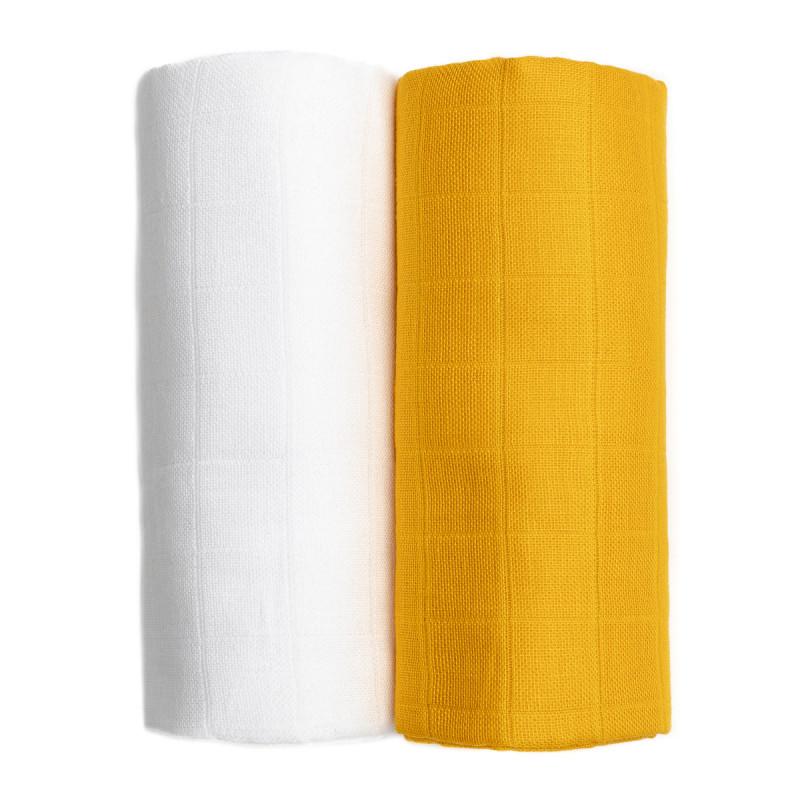 TETRA osušky EXCLUSIVE COLLECTION, white + mustard